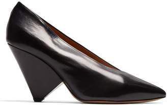 Pandel cone-heel leather pumps