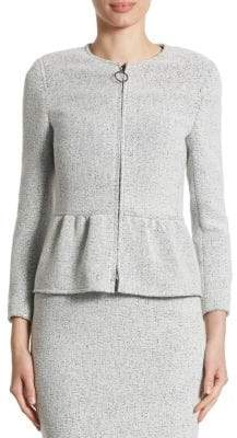 Akris Tweed Peplum Jacket