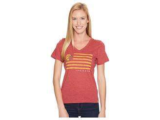 Life is Good Arizona State Sun Devils Team Flag Cool Vee Women's Short Sleeve Pullover