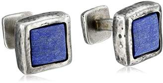 Rotenier Onyx Hammered Square Cufflinks Set