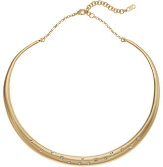 Cole Haan Tapered Collar Necklace with Emedded Crystal Stones Necklace