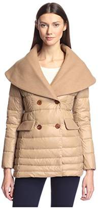HAPPY GOAT LUCKY Women's Cassidy Wool & Down Mixed Media Coat