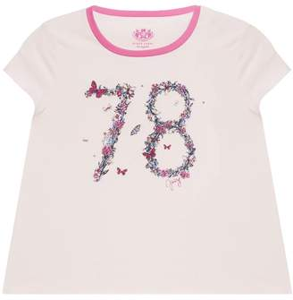 Juicy Couture Butterfly Varsity Graphic Tee for Girls