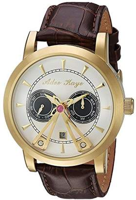 Adee Kaye Men's Automatic Stainless Steel and Leather Dress Watch