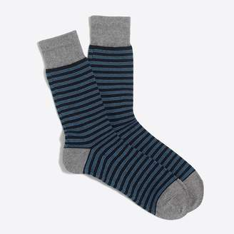 J.Crew Triple narrow-striped socks
