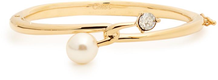 Chloé CHLOÉ Monroe faux-pearl and crystal cuff