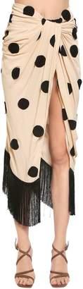 Jacquemus Polka Dot Embroidered Crepe Skirt