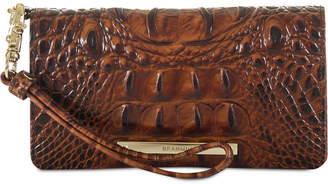 Brahmin Melbourne Debra Embossed Leather Wristlet