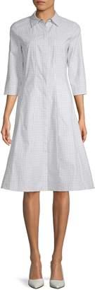 Lafayette 148 New York Cammi Stretch-Cotton Shirtdress
