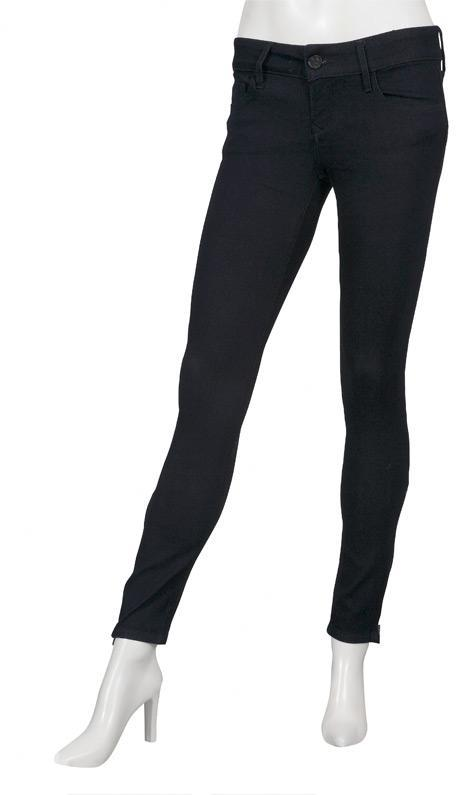 Black Jewel Zipper Jegging in Midnight - by Black Orchid