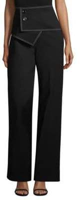 Derek Lam High-Waisted Straight-Leg Trousers