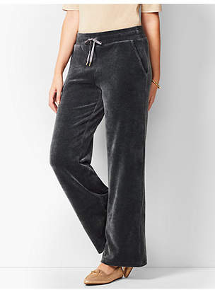 Talbots Luxe Velour Wide-Leg Pants