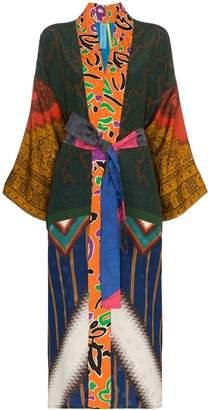 Rianna + Nina mixed Aztec print kimono