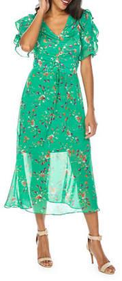 TFNC Indira Frill Midi Dress