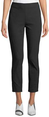 Tory Burch Stretch-Twill High-Waist Skinny Pants
