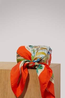 Gucci Savannah print silk scarf