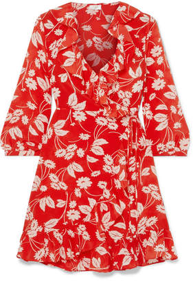 DAY Birger et Mikkelsen RIXO London - Abigail Floral-print Silk-crepe Wrap Dress - Red