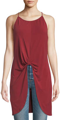 BCBGeneration Knot-Front Sleeveless Tunic Top