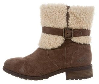 UGG Australia Suede Ankle Boots $90 thestylecure.com