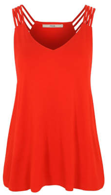 George Red Strappy Vest Top