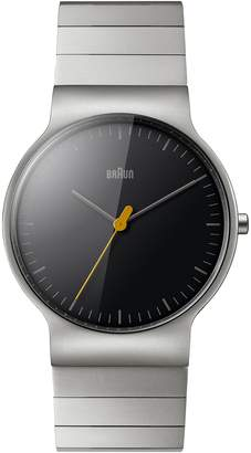 Braun Mens Analogue Classic Quartz Watch with Stainless Steel Strap BN0211BKSLBTG