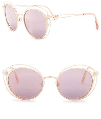 Roberto Cavalli 55mm Metal Round Sunglasses