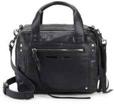 McQ Leather Double Zip Top Handle Bag