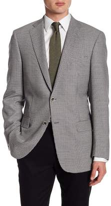 Hart Schaffner Marx Grey Check Two Button Notch Lapel Wool New York Fit Sport Coat