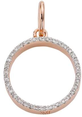 Monica Vinader Naida Open Circle Diamond Pendant Charm