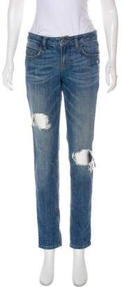 Anine Bing Mid-Rise Distressed Jeans