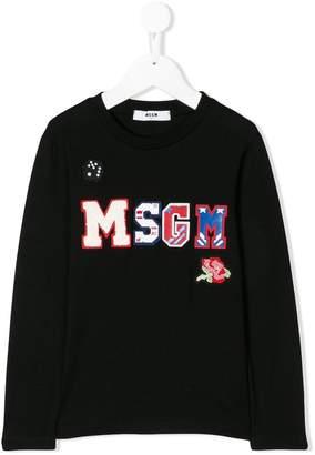 MSGM logo patch sweater