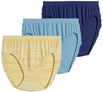 Jockey Comfies 3 Pair Microfiber French Cut Panty 3326