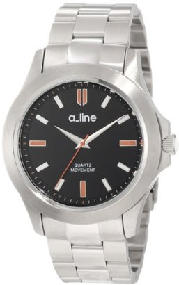 A Line A _ LINE Women 's al-80013 – 11 Gra Black DialステンレススチールWatch by a _ line