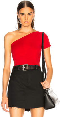 Helmut Lang Asymmetric Tube Tank Top in Scarlet | FWRD