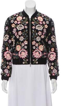 Needle & Thread Sequin Embellished Bomber Jacket