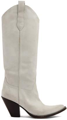 Maison Margiela Western suede knee-high boots