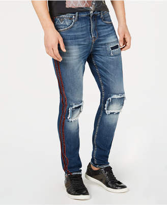 GUESS Men's Utility Fit Ripped Jeans