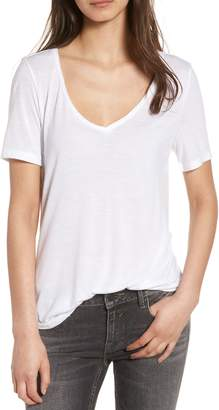 BP Raw Edge V-Neck Tee