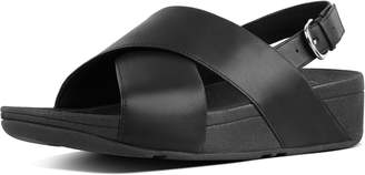 FitFlop Lulu Leather Cross Back-Strap Sandals