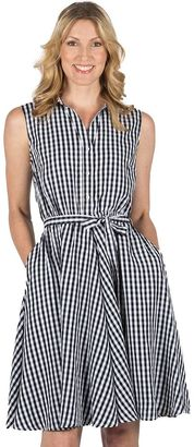 Women's Larry Levine Fit & Flare Gingham Dress $69 thestylecure.com