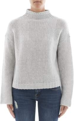 360 Sweater Grey Cachemire Turtleneck