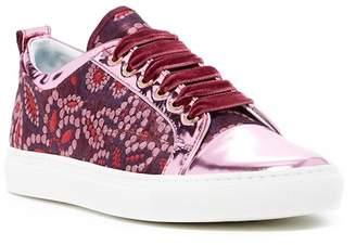 Lanvin Metallic Cap Toe Brocade Sneaker