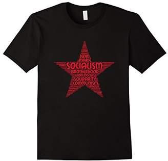Socialism communism red star word cloud