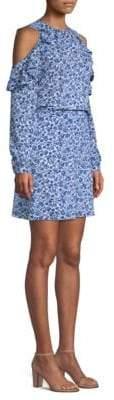 MICHAEL Michael Kors Cold-Shoulder Floral Blouson Dress