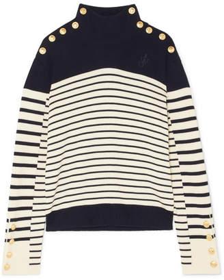 J.W.Anderson Striped Merino Wool Turtleneck Sweater - Navy