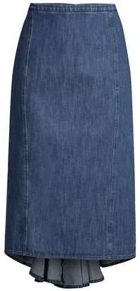 Michael Kors Fishtail Denim Pencil Skirt