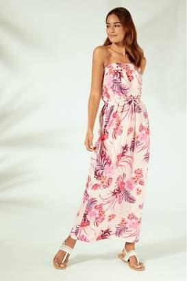 Lipsy Floral Maxi Beach Dress - 6 - Pink