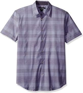 John Varvatos Men's Purple Short Sleeve Sport Shirt