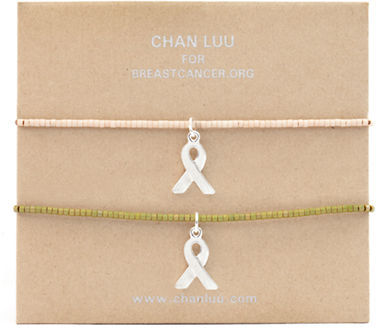 Chan Luu Breast Cancer Awareness Bead Bracelet
