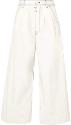 MM6 MAISON MARGIELA High-rise Wide-leg Jeans - Off-white